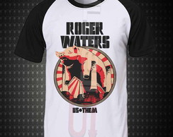 Camiseta Raglan - Roger Waters Us + Them