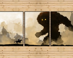3 Quadros Decorativos Shadow of the Colossus Playstation 2