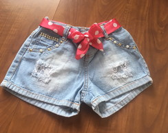 Short Jeans Infantil Destroyed