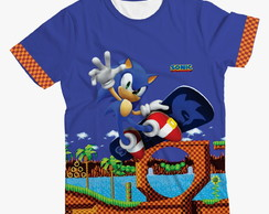 Camiseta Infantil do Sonic Winner Azul