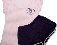 Sleepwear poá Mother's Heart cor Amora