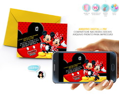 Convite Digital Mickey e Minnie