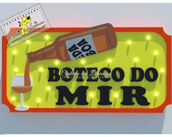 Luminoso Led Placa Boteco do Mir em 100% MDF