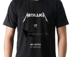 Camiseta Camisa Rock Metallica Guitarra ESP James Hetfield