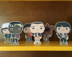 6 Totens / Display de Mesa - Festa Stranger Things