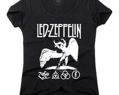 Camiseta Baby Look Feminina Led Zeppelin Banda Rock  49f276ffcce