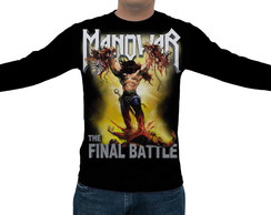 Camiseta Manowar - The Final Battle - Manga Longa