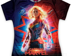 Camiseta Baby Look Feminina Capitã Marvel Md03