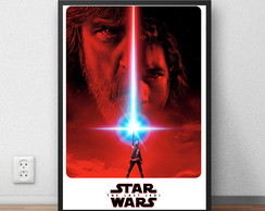Quadro decorativo Star Wars The Last Jedi 29,7x42cm P408