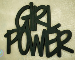 Lettering de parede decorativo Girl Power