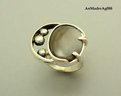 649c22504b7 ... Anel de prata 950 e madrepérola negra (AnMadreAg088)