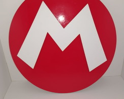 Placa Decorativa logo super Mario Bros