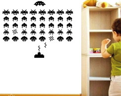 Adesivo Set Space Invaders ADN07