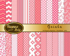 Papel Digital Elegance Goiaba