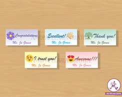 Kit de adesivos incentivo escolar - Teacher Stickers