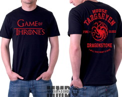 Camisa Camiseta Game Of Thrones Stark Targaryen Got Série
