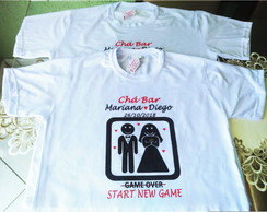 01 Camiseta Personalizada Chá Bar Chá de Panela New Game