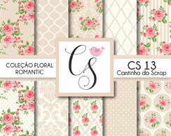 Papel Digital Floral Bege