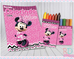 Kit Colorir com Massinha Minnie Rosa