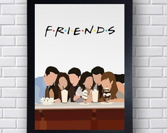 Poster Série Friends Personagens
