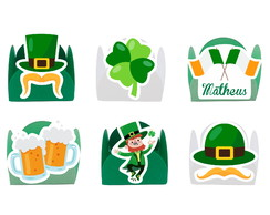 FORMINHA DECORADA COM APLIQUE - SAINT PATRICKS DAY