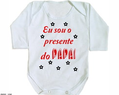 body de bebe ribana eu sou o presente do papai