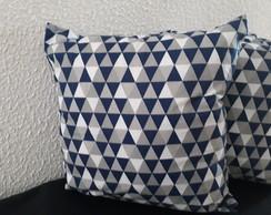 a10b4aa7697558 Almofada Geometrica Rosa e Azul | Elo7