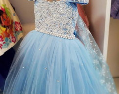 Vestido Elsa Frozen Elo7