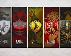 5 Placas Decorativas Game of Thrones