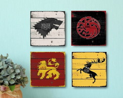 4 Quadros Decorativos Game of Thrones