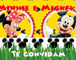 Convite Animado MInnie e Mickey