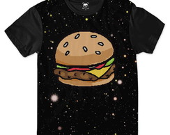 Camiseta Big Lanche Pixels Galaxia Tumblr Estampa L26 Ydias