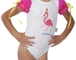 Fantasia Body de Flamingo - Carnaval - Quimera Kids