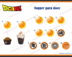 Topper para doces tema Dragon Ball