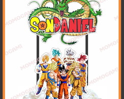 Topo de bolo personalizado do tema Dragon Ball