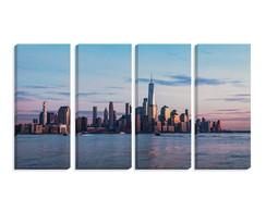 Conjunto quadros manhattan skyline cm mosaico kit no elo