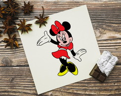Placa decorativa 20x20cm Minnie