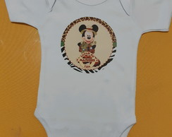 Body de Aniversario Mickey Safari