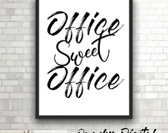ARTE DIGITAL PARA POSTER/QUADRO - OFFICE SWEET OFFICE