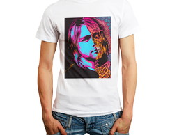 Camiseta Kurt Cobain Nirvana Camisas Bandas Rock And Roll