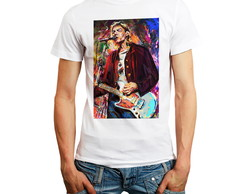 Camiseta Bandas Nirvana Kurt Cobain Camisas Rock And Roll