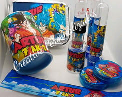 KIT 3 FESTA PERSONALIZADOS TEMA DRAGON BALL