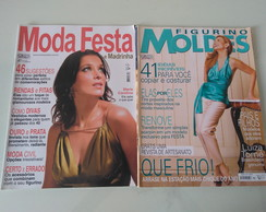 Kit 2 Revistas Moda Moldes