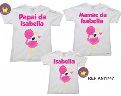 Kit 3 Camiseta Aniversario Flamingo 01