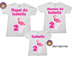 Kit 4 Camiseta Aniversario Flamingos