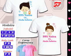 Kit com 02 Camisetas Personalizadas New Game Chá Bar