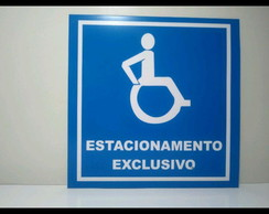 Placas estacionamento exclusivo