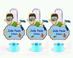 Tubete 3D Personalizado Fundo do Mar