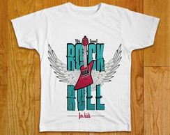 Camiseta Infantil Rock Roll
