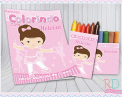 Kit Colorir com Massinha Bailarina